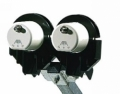 KIT STAFFA DUAL FEED UNIVERSALE PER LNB DA23 A 60MM,DISCHI 65/78/85/120